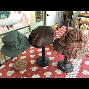 Stussy fun hats Army cap satin newsboy plaid wool